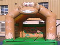 Crazy Part Dinosaur Bouncy castle
