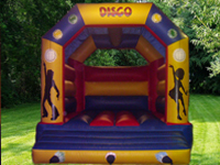 Disco them bouncy castle